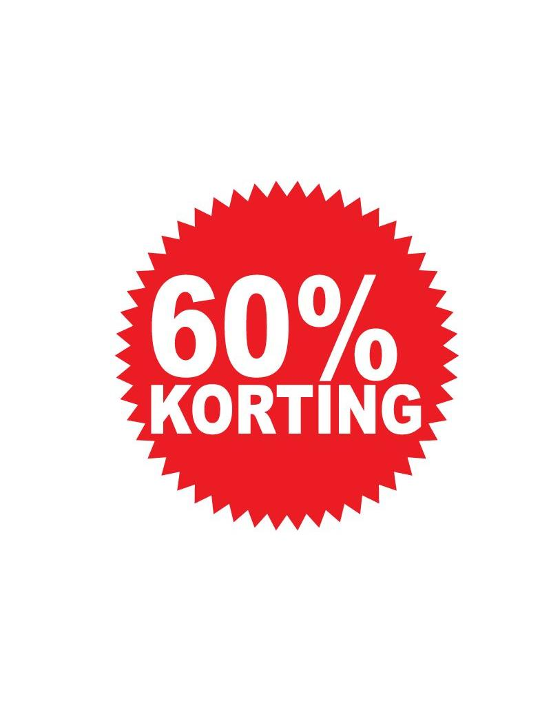 Autocollant circulaire 60% korting
