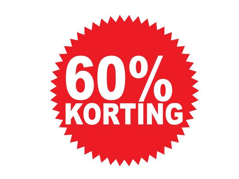 Ronde 60% korting Sticker