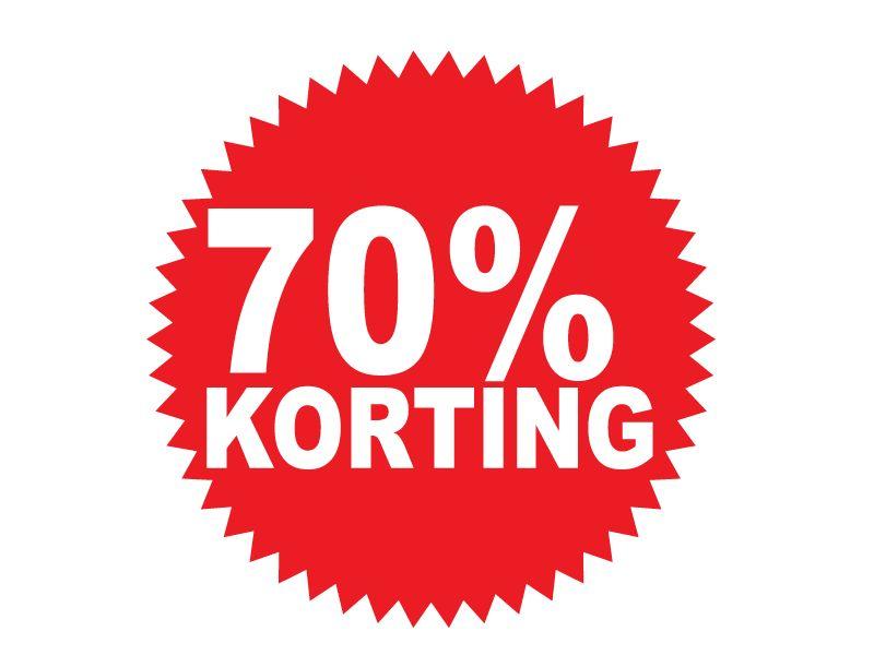 Pegatina redonda 70% descuento