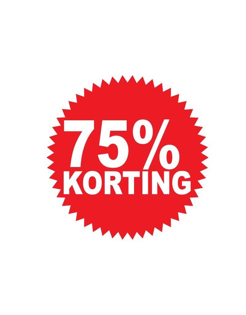 Ronde 75% korting Sticker
