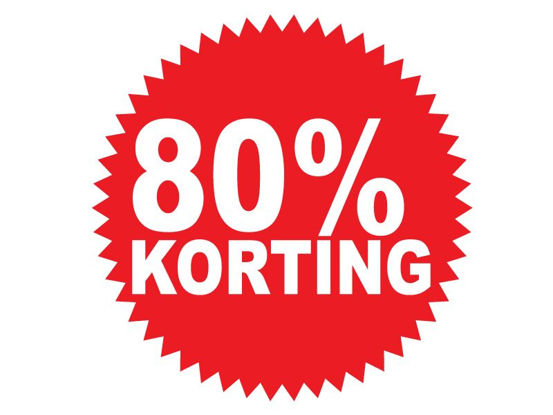 Autocollant circulaire 80% korting