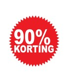 Autocollant circulaire 90% korting