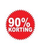 Ronde 90% korting Sticker