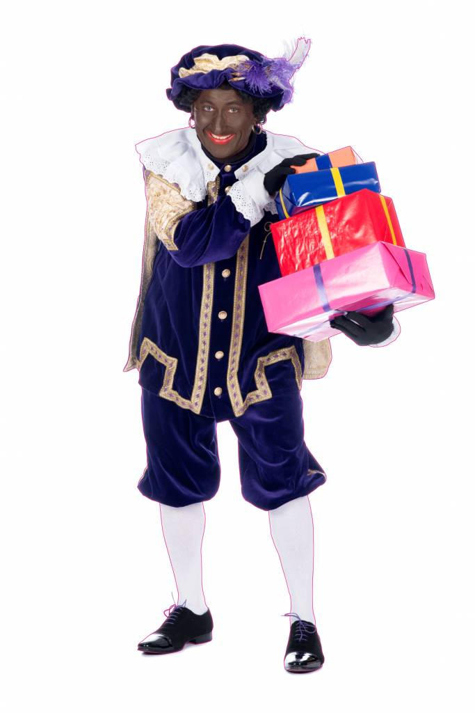Black peter with presents sticker