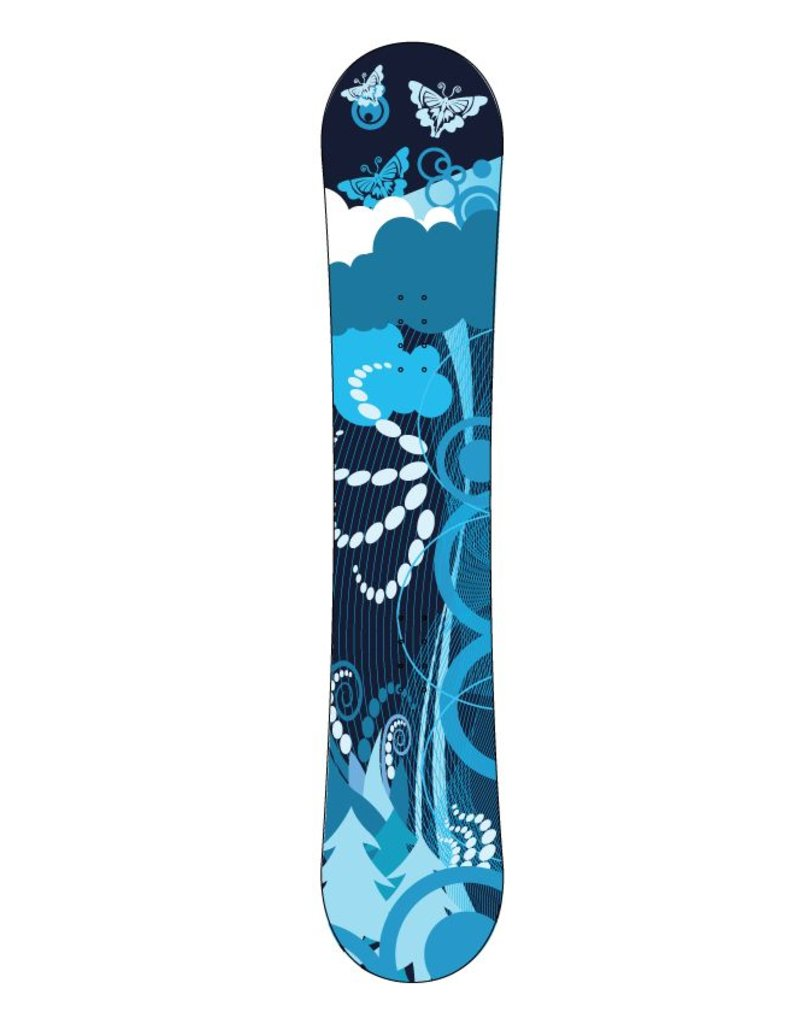 Blue Landscape snowboard Sticker