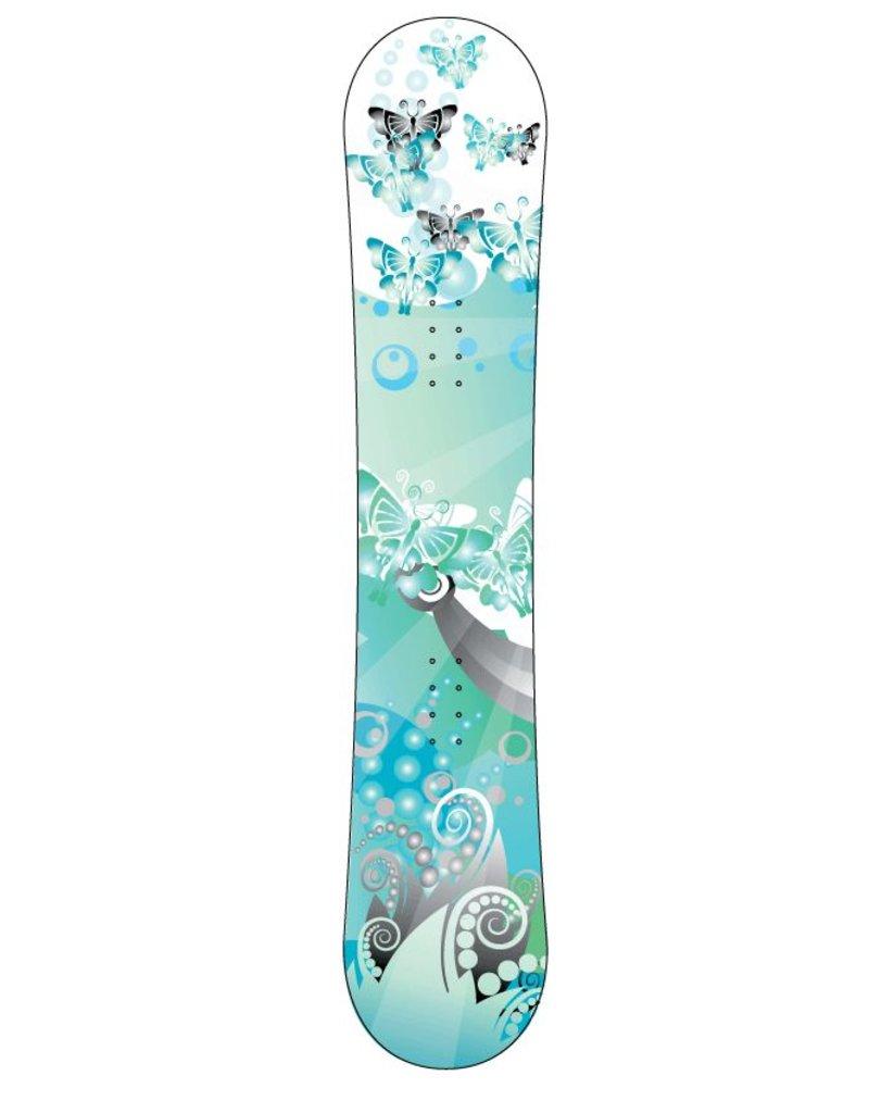 Paysage bleu snowboard Sticker
