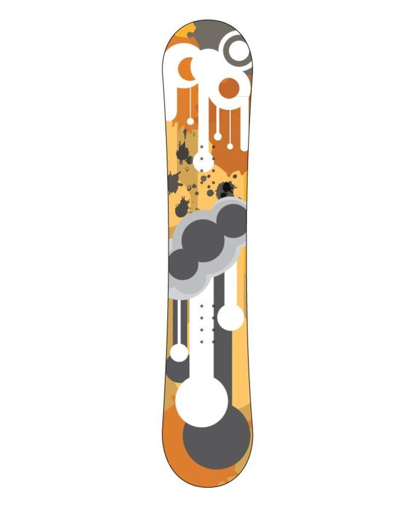 Tropfen Snowboard Sticker