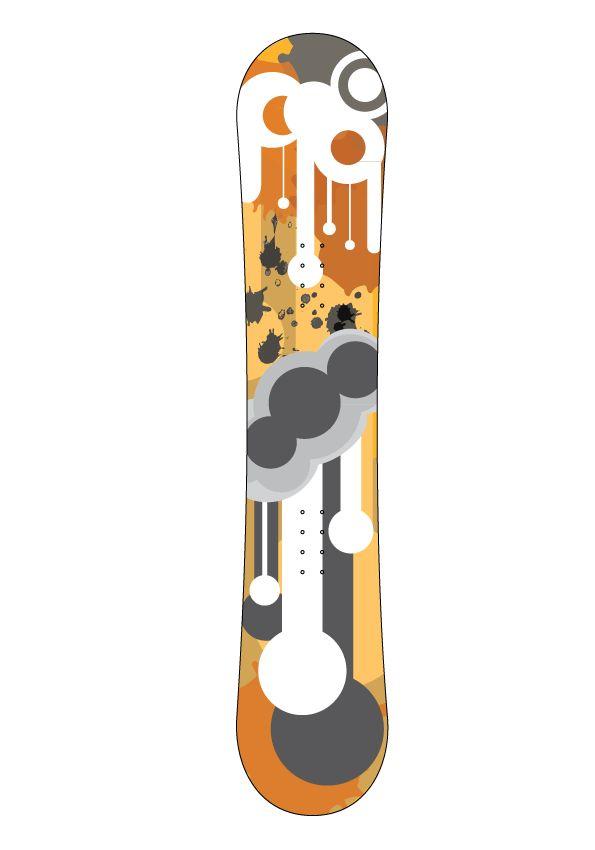 Gouttes snowboard autocollant