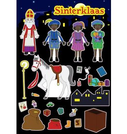 Stickervel Sinterklaas