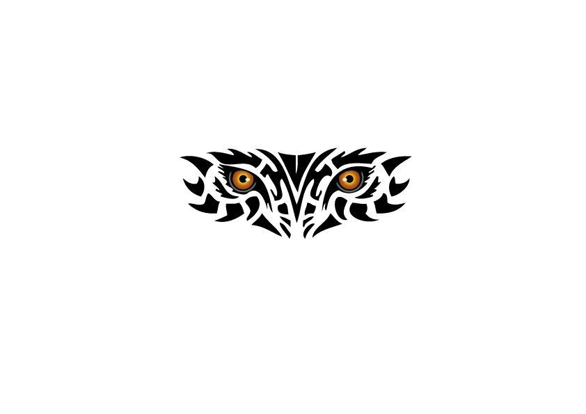 Motorkapsticker Tribal ogen