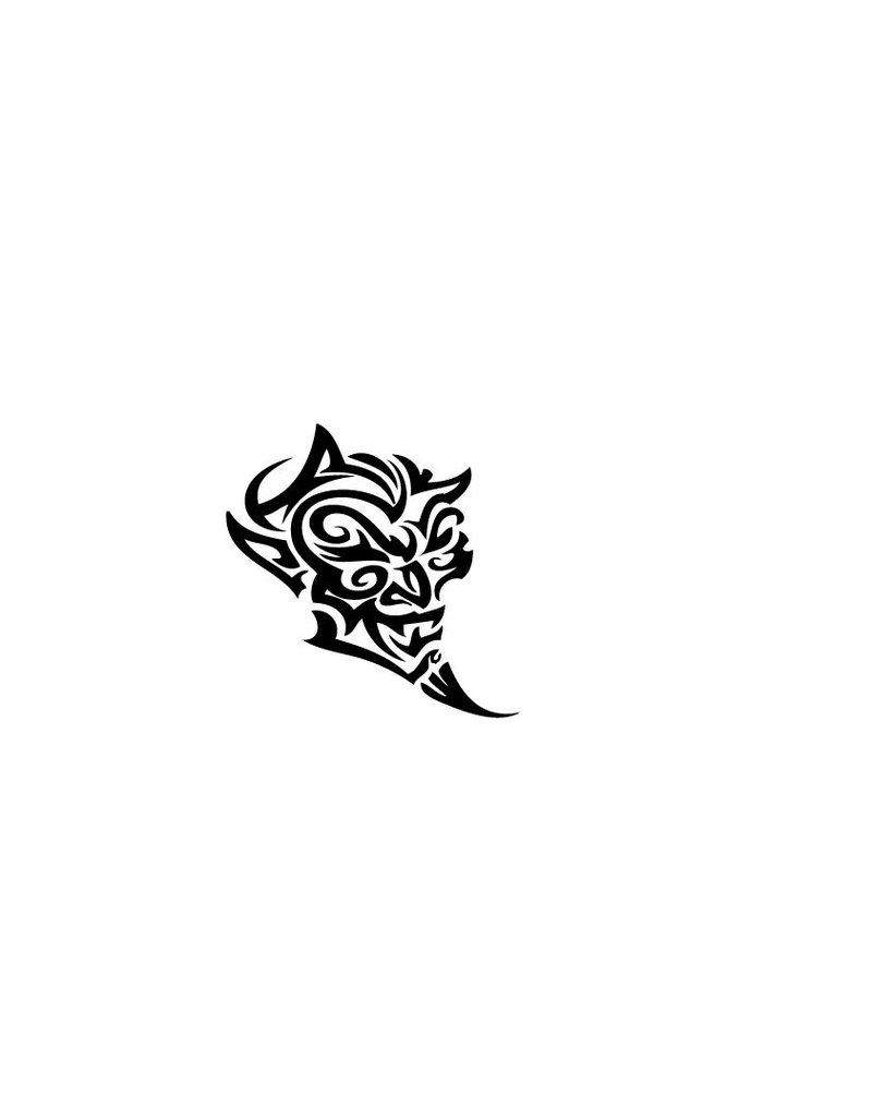 Motorhauben Sticker Devil Tribal