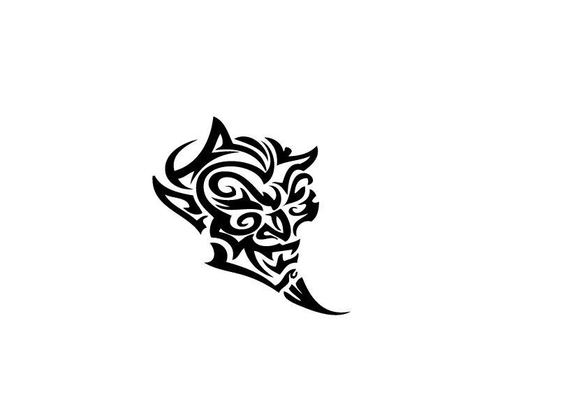 Pegatinas de capot demonio tribal