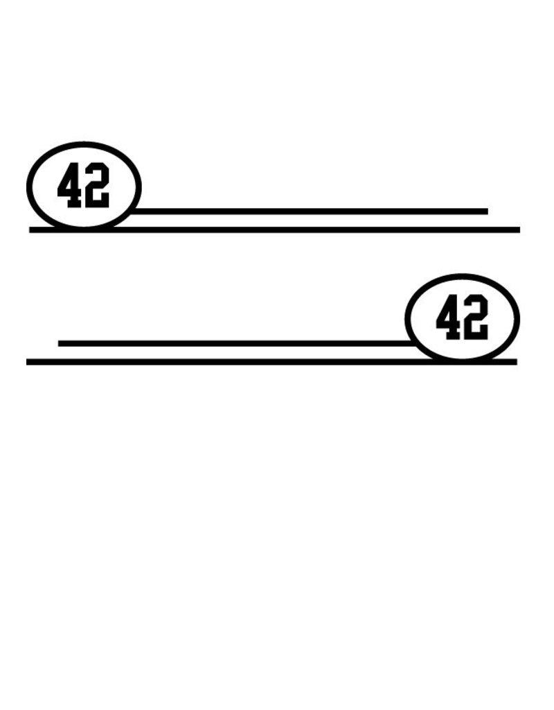 Número de carerra #1 (dos pegatinas)
