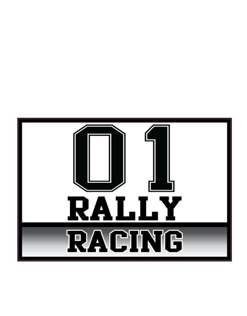 Car Sticker Rally number 7 (set of 2 stickers)