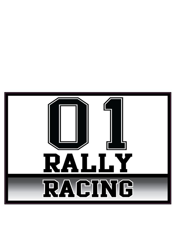 Auto-Aufkleber Rally Nummer 7 (2 Aufkleber)