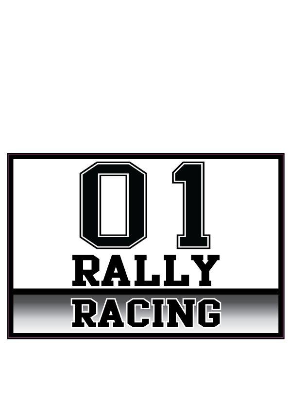 Autosticker Rally variant 7 (set van 2 stickers)