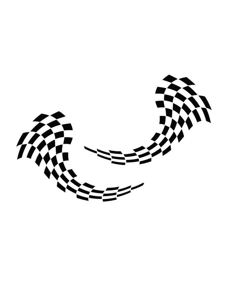 Decoratie Race vlag sticker