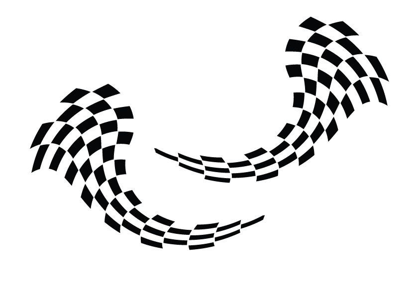 Decoration Race Flag sticker