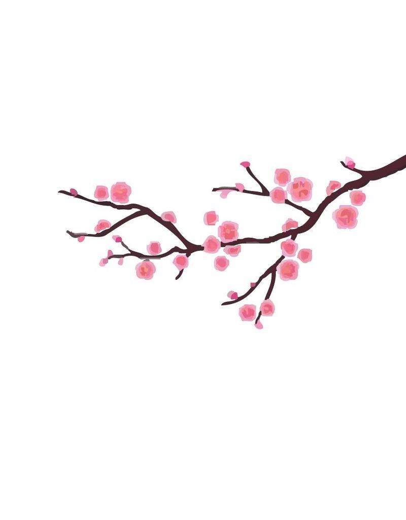 Decoratie Sakura sticker