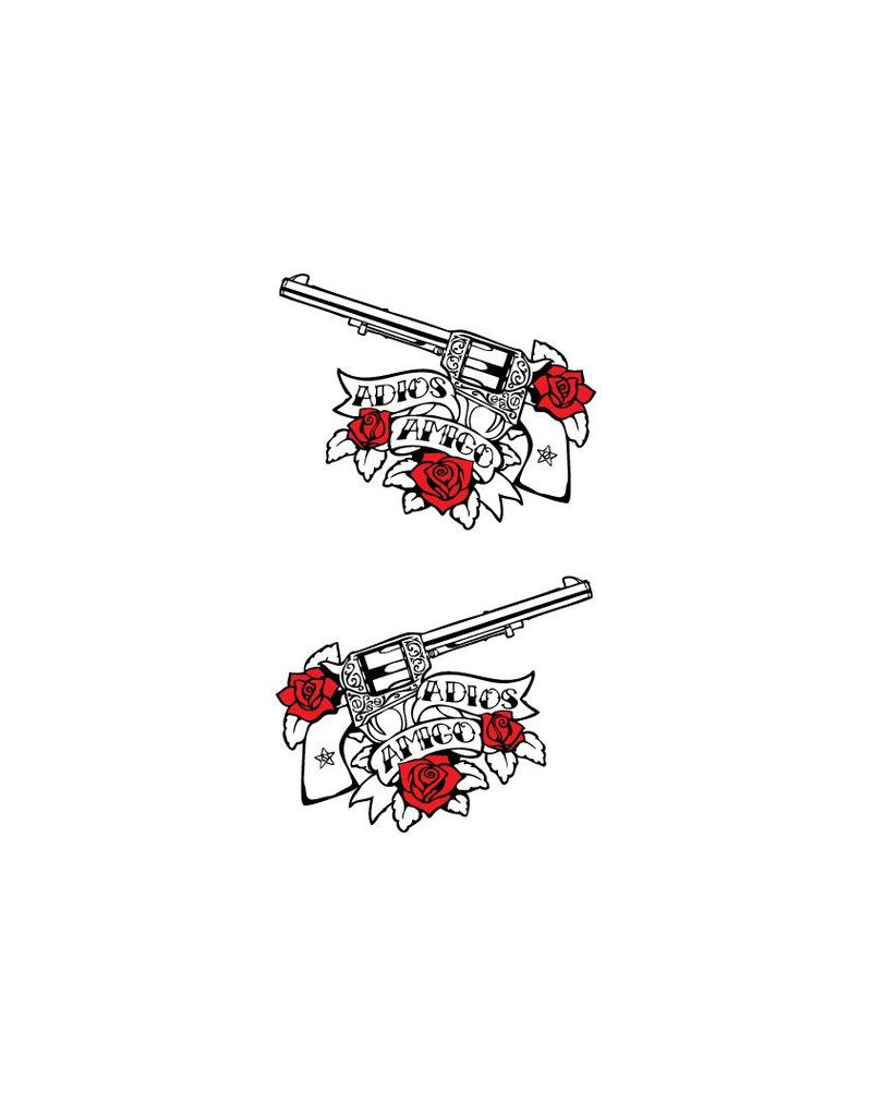Guns & roses pegatina
