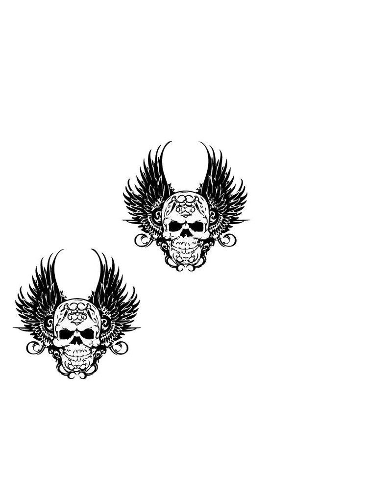 Decoratie Death wings sticker