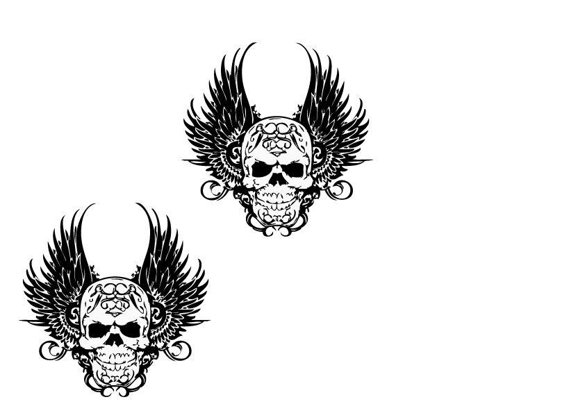 Décoration Death wings autocollant