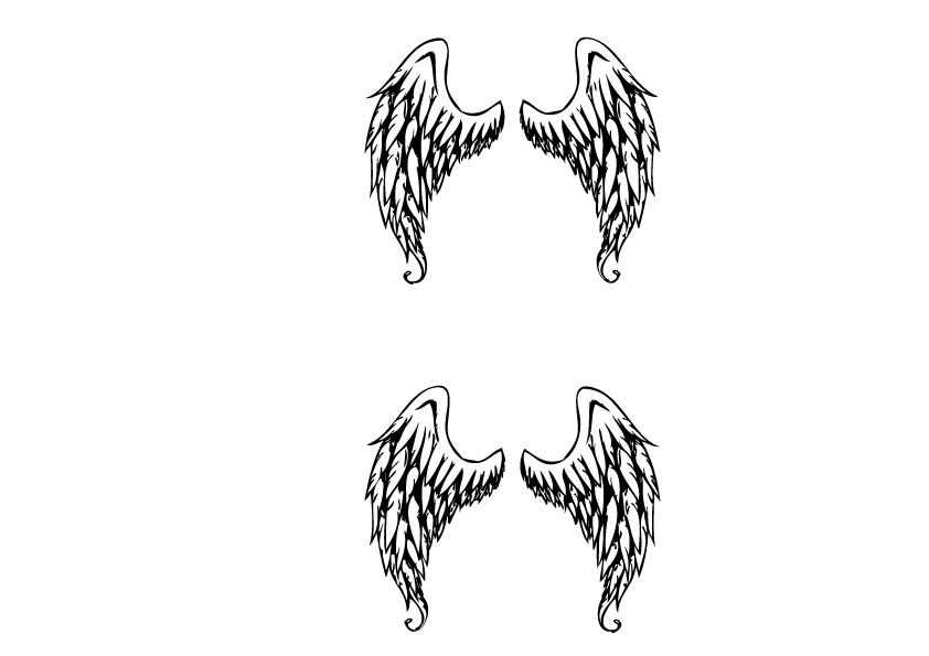 Angel Wings Decoration Sticker