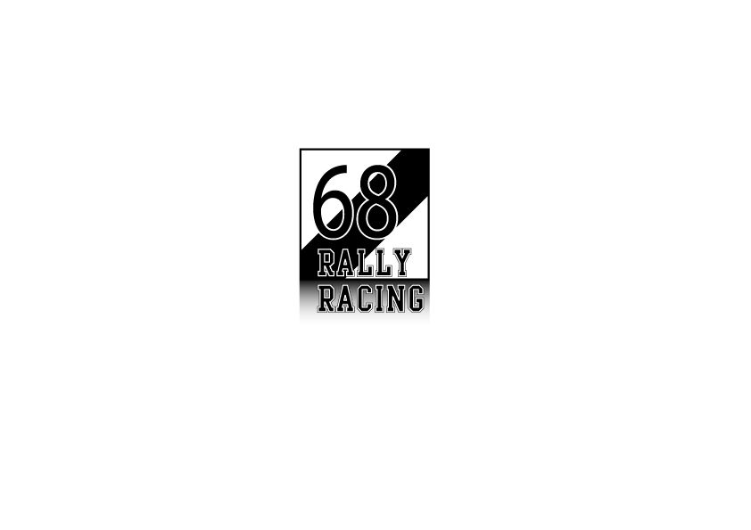 Car Sticker Rally number 3 (set of 2 stickers)