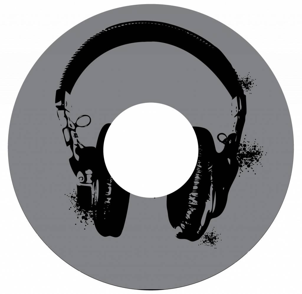Autocollant protège-rayon écouteurs noirs