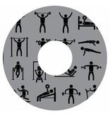 Spaakbeschermer fitness grijs