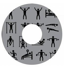 Spaakbeschermer sticker fitness grijs