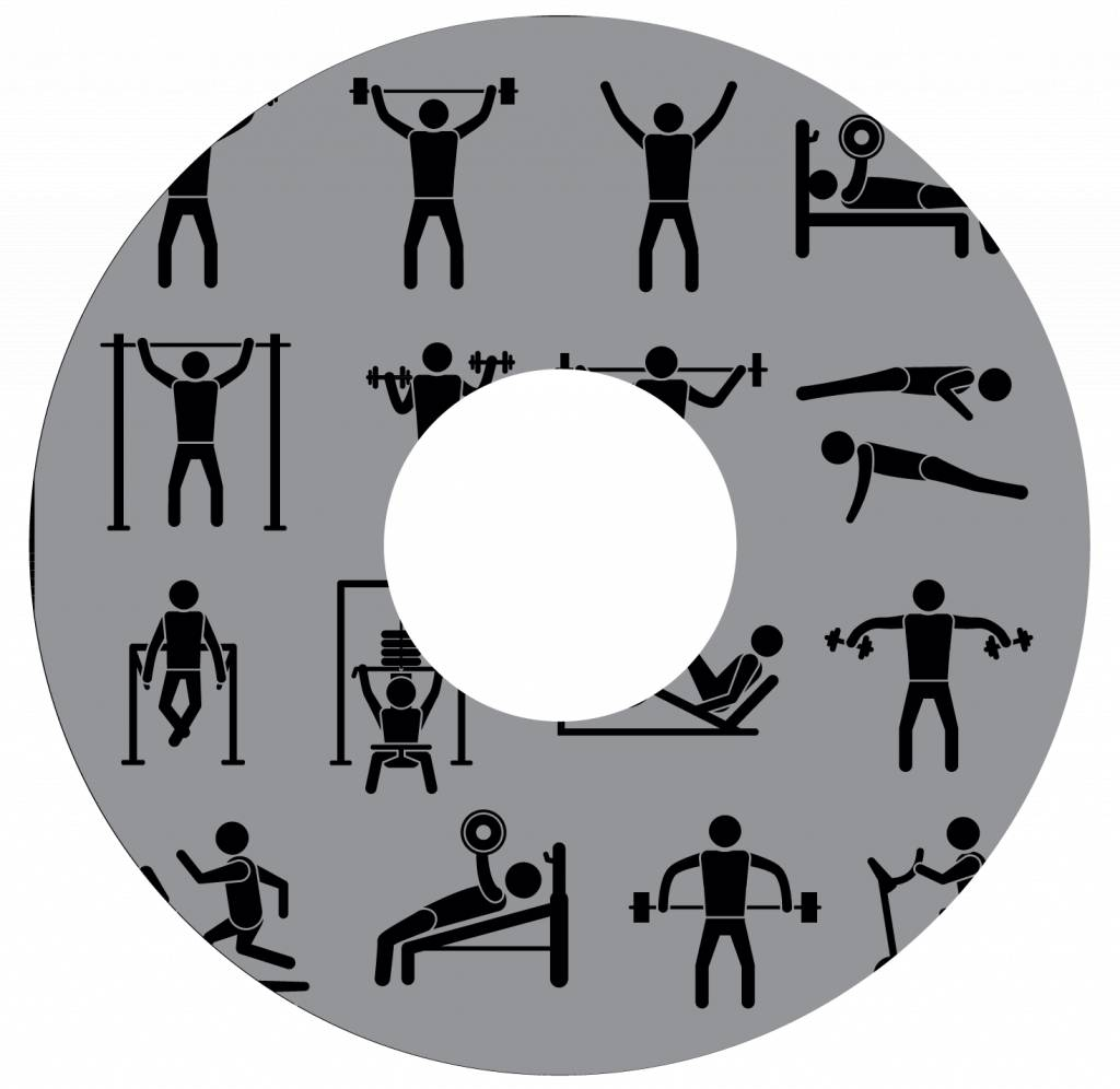 Pegatina protector de radios fitness gris