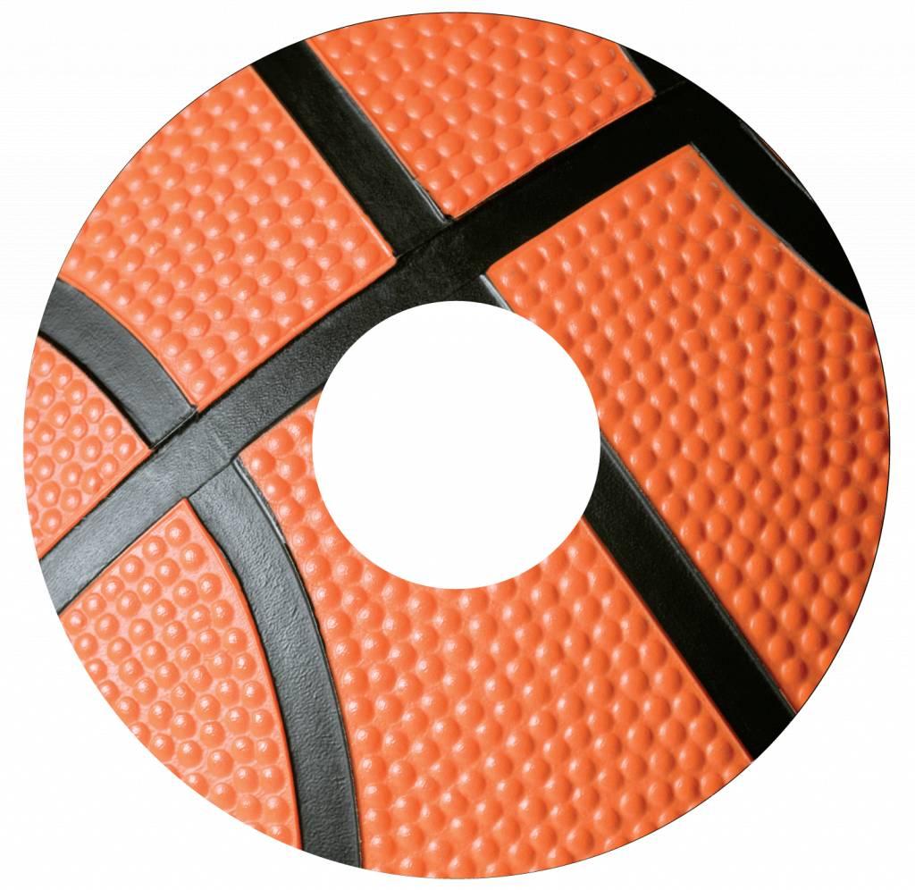 Spoke protector basketball closeup