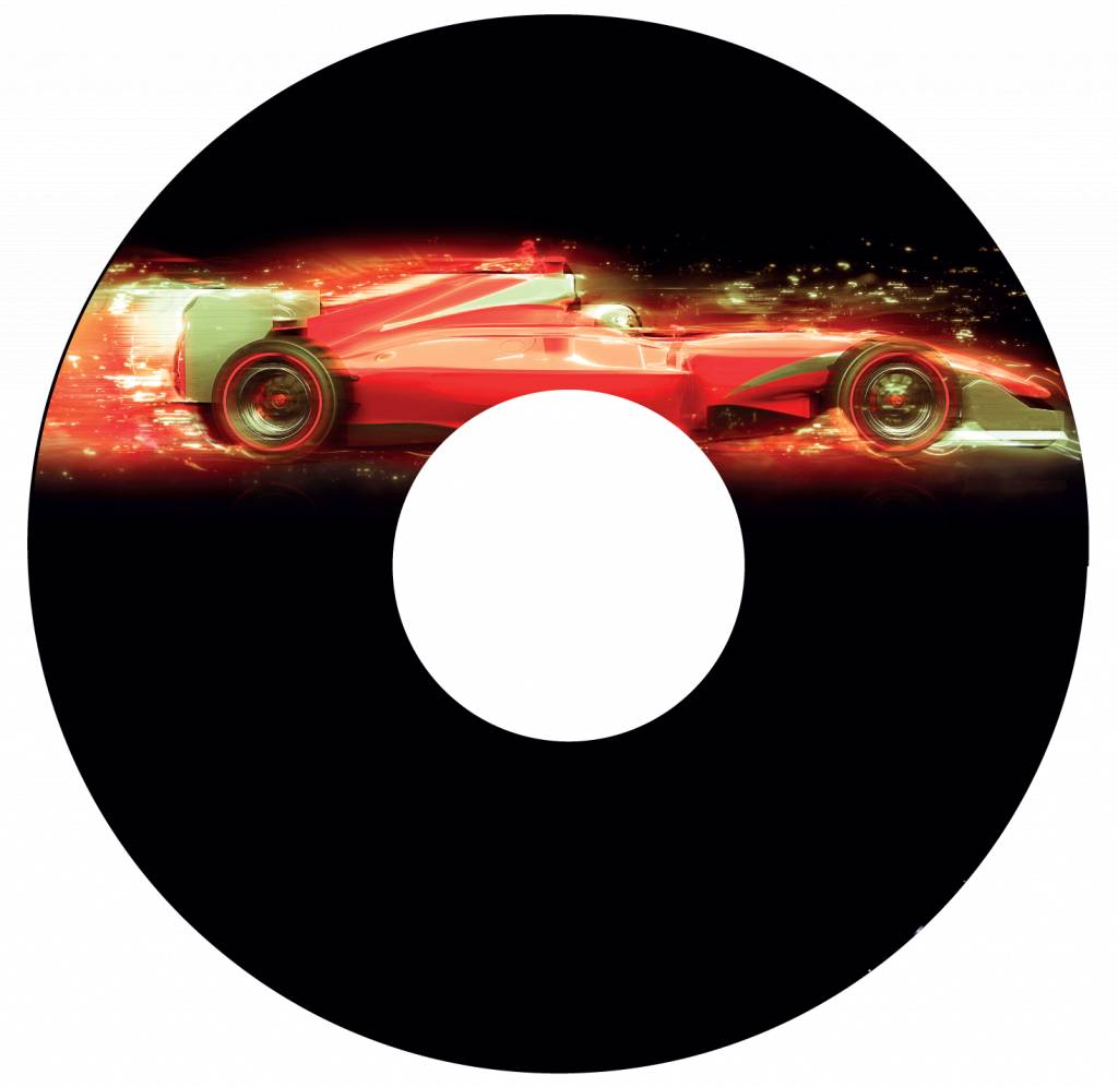 Autocollant protège-rayon F1 voiture 1