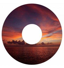 Autocollant protège-rayon coucher de soleil rouge