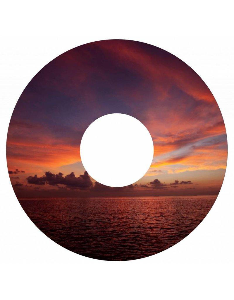Spaakbeschermer zonsondergang rood