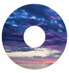 Pegatina protector de radios puesta del sol púrpura