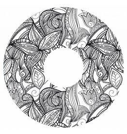 Autocollant protège-rayon fleurs noir et blanc