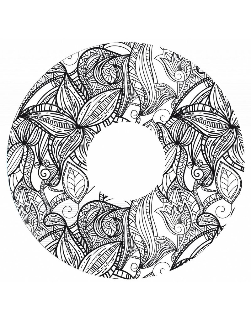 Spoke protectors floral print black and white
