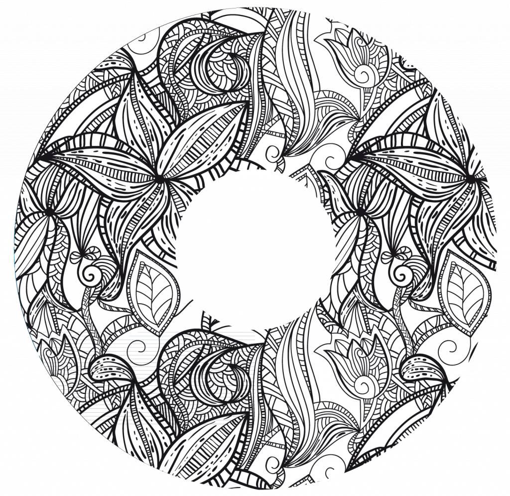 Speichenschutz Blumendruck Schwarz-Weiß