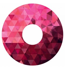 Spaakbeschermer sticker Magenta geometrisch