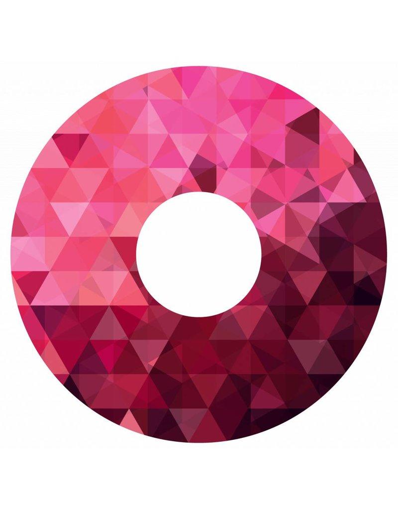 Spaakbeschermer Magenta geometrisch