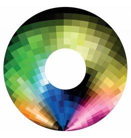 Pegatina protector de radios abstracto del arco iris