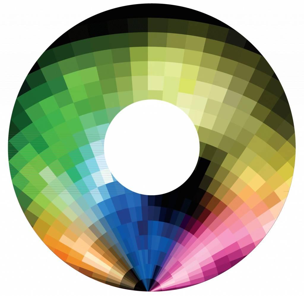 Spoke protector Abstract rainbow