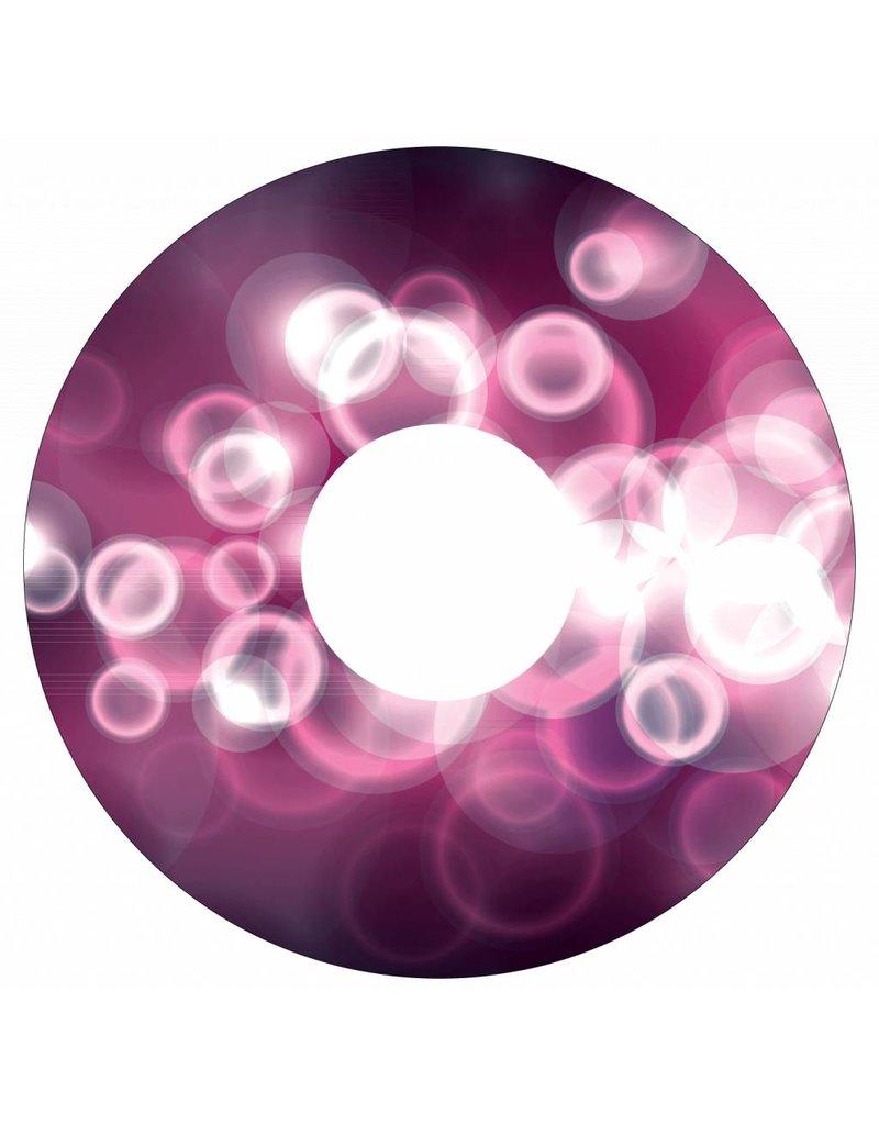 Pegatina protector de radios brillo de color rosa