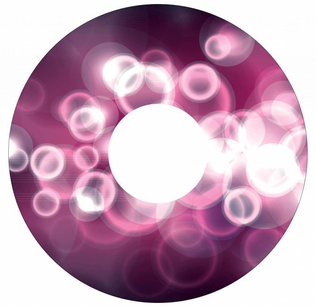 Autocollant protège-rayon paillette rose