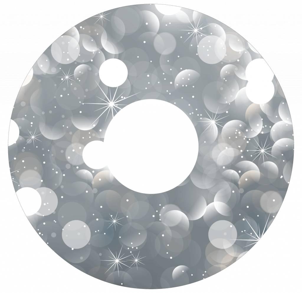 Spaakbeschermer glitter zilver