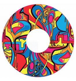 Spaakbeschermer sticker Abstract en kleurvol