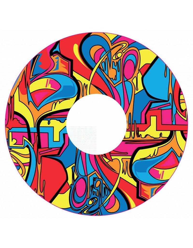 Pegatina protector de radios abstracta y colorida