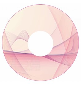 Spaakbeschermer sticker Abstract roze 1